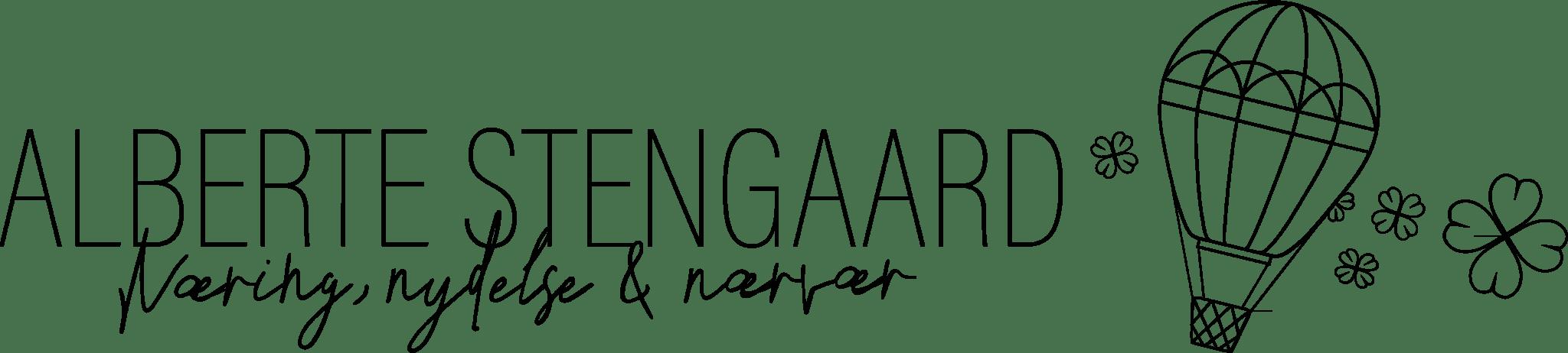 Alberte Stengaard vegansk madblog logo