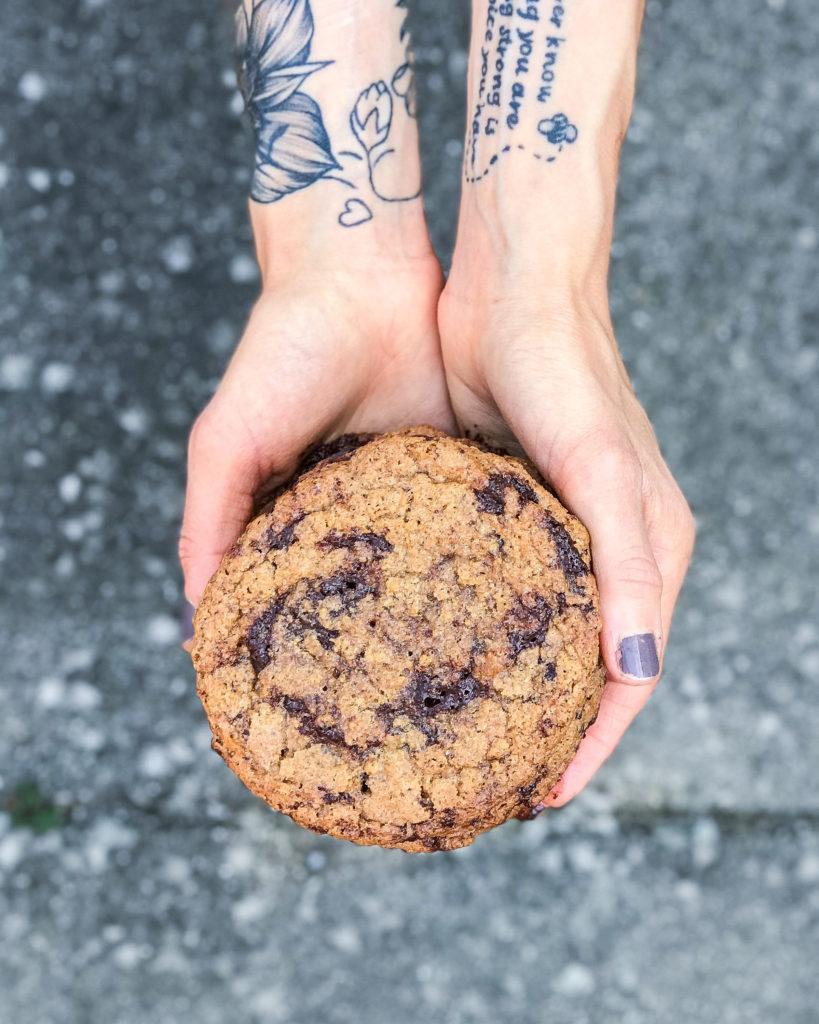 veganske chocolate chip cookies - glutenfri og lækre 1