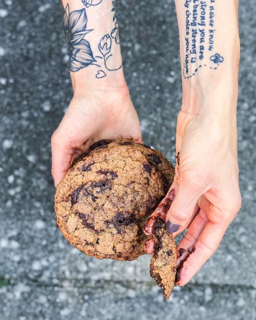 veganske chocolate chip cookies 6