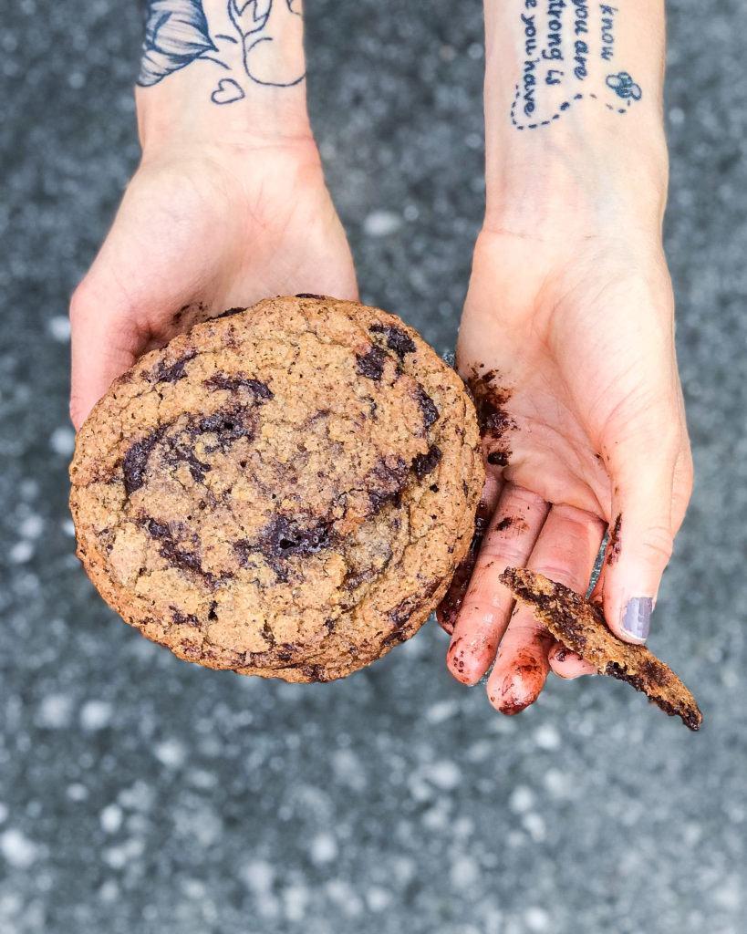 veganske chocolate chip cookies 8