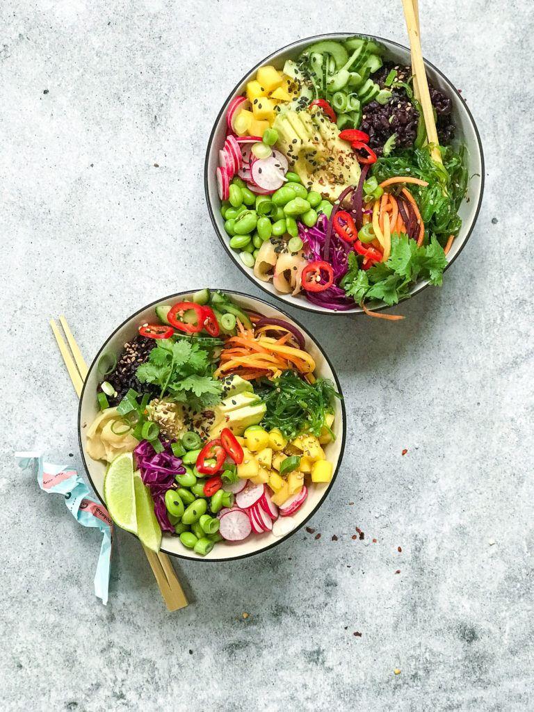 veganske sushobowls wasabi mayo