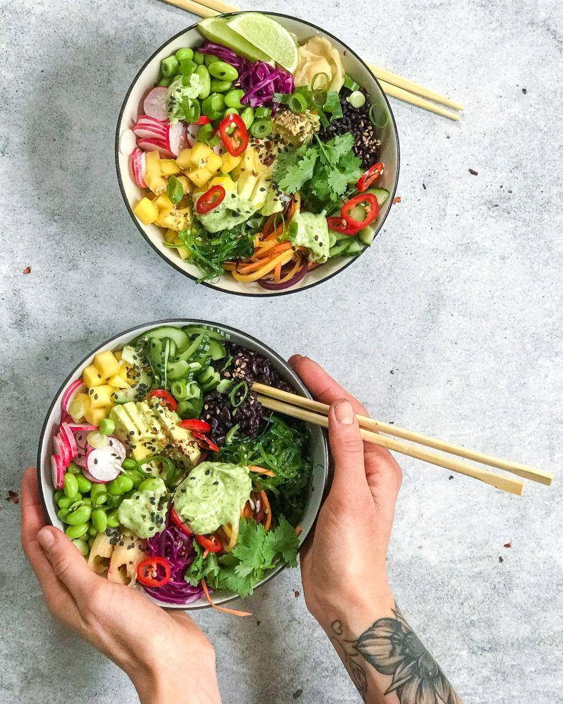 veganske sushobowls med wasabimayo