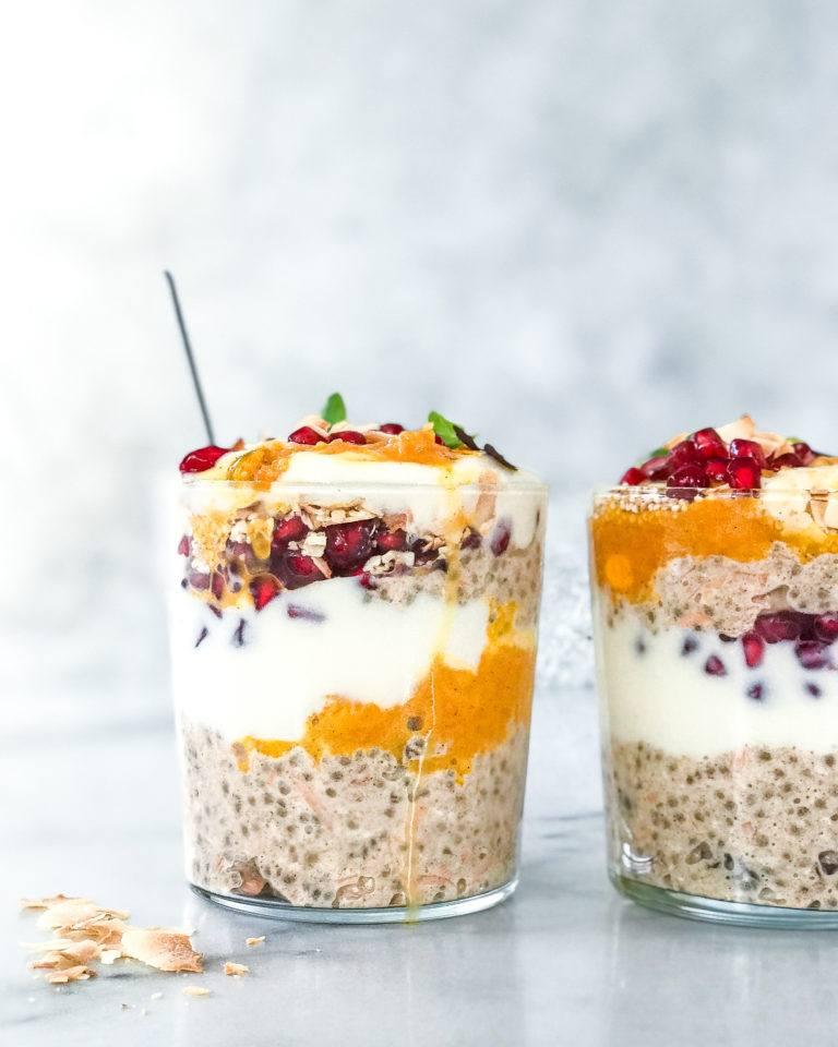 foodprep vinter morgenmad overnight oats med gulerod ala gulerodskage