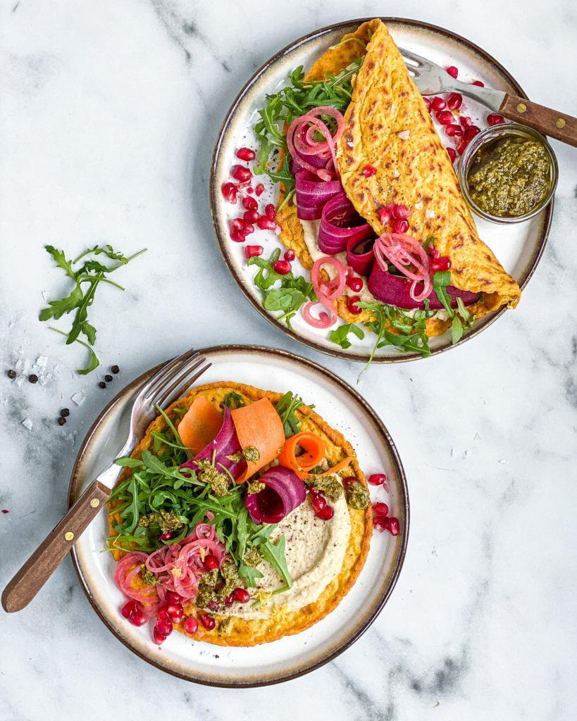 vegansk omelet