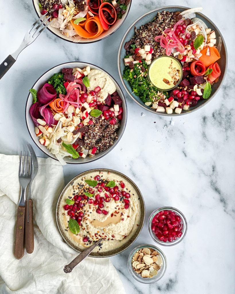 butterbean hummus bowls