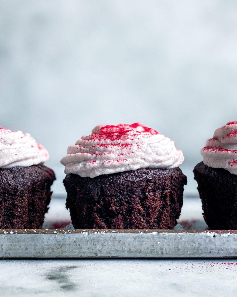 vegansk chokoladekage cupcake
