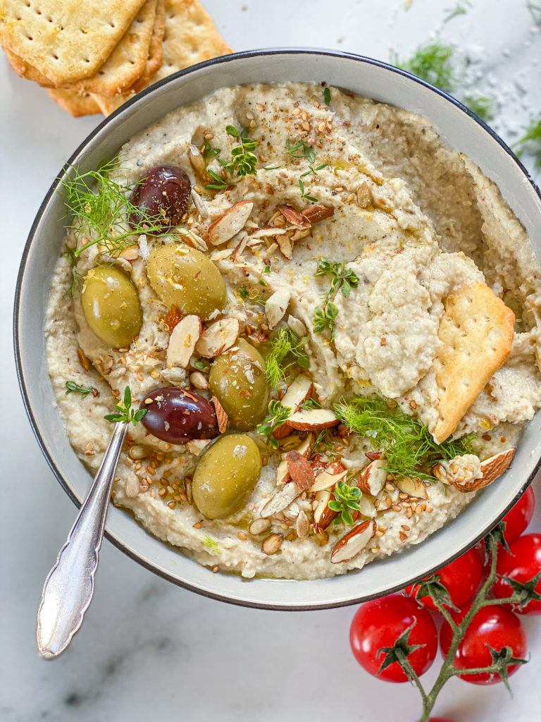 hummus med bagt fennikel