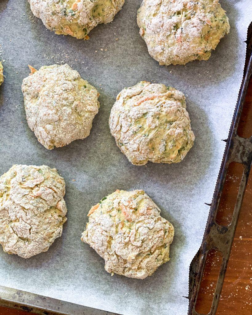 spinatboller før bagning