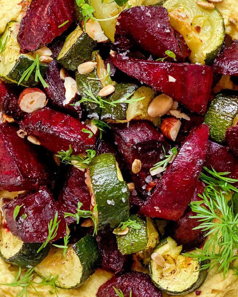 bagte senneps rødbeder close up
