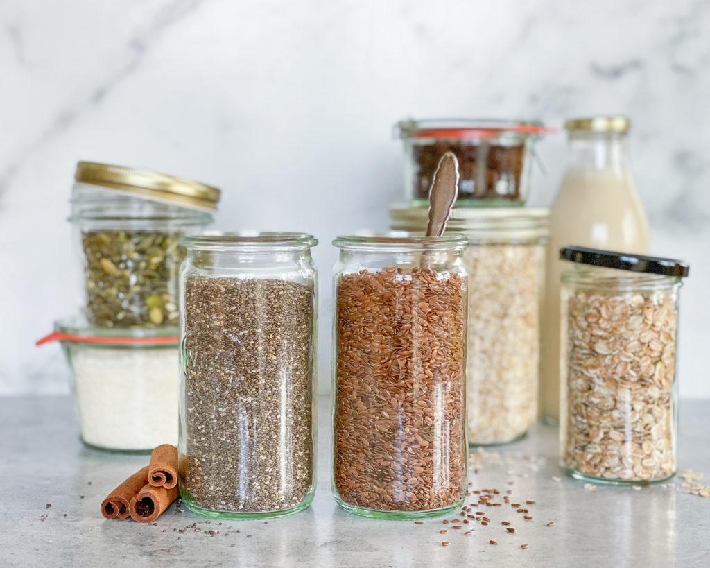 overnight oats basisingredienser