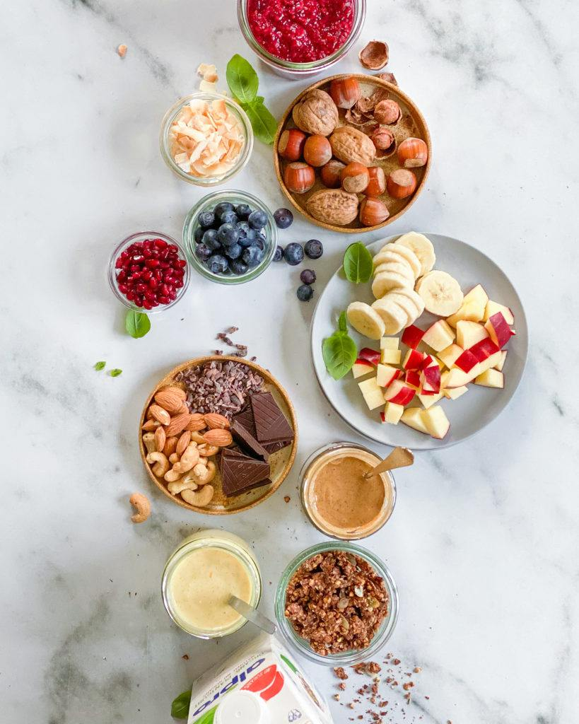 overnight oats toppings