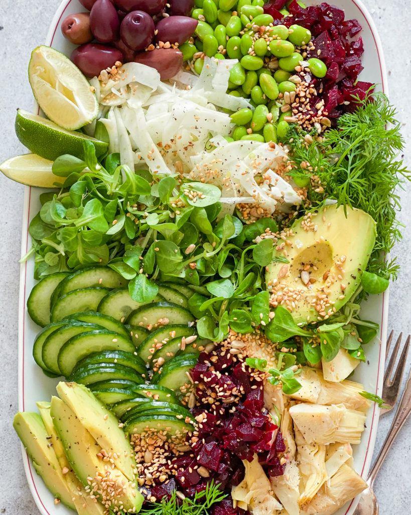 forårssalat med fennikel og lime vinaigrette