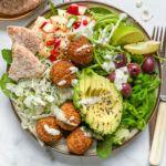 nem vegansk falafel salat