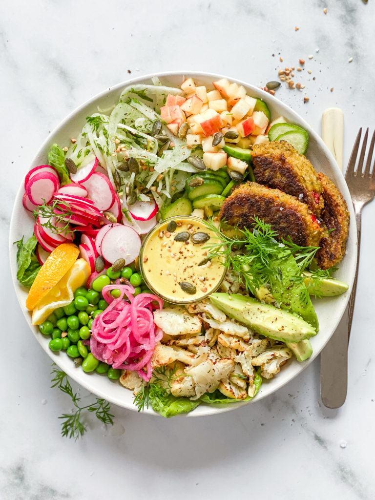 frokost bowl med plantedeller