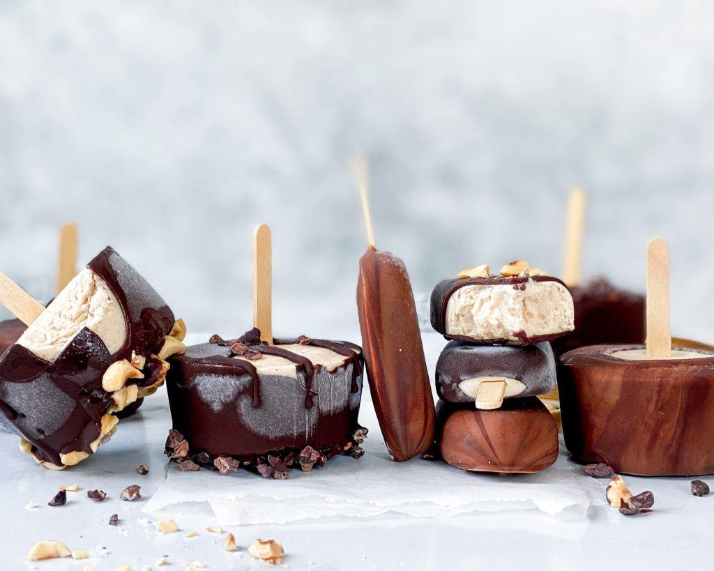 sunde ispinde med kokosmælk og bønner