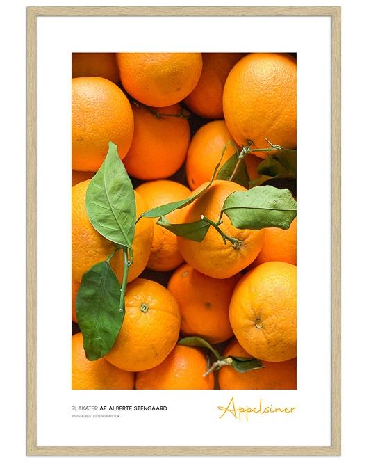 appelsin mad plakat