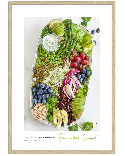 fennikel salat mad plakat