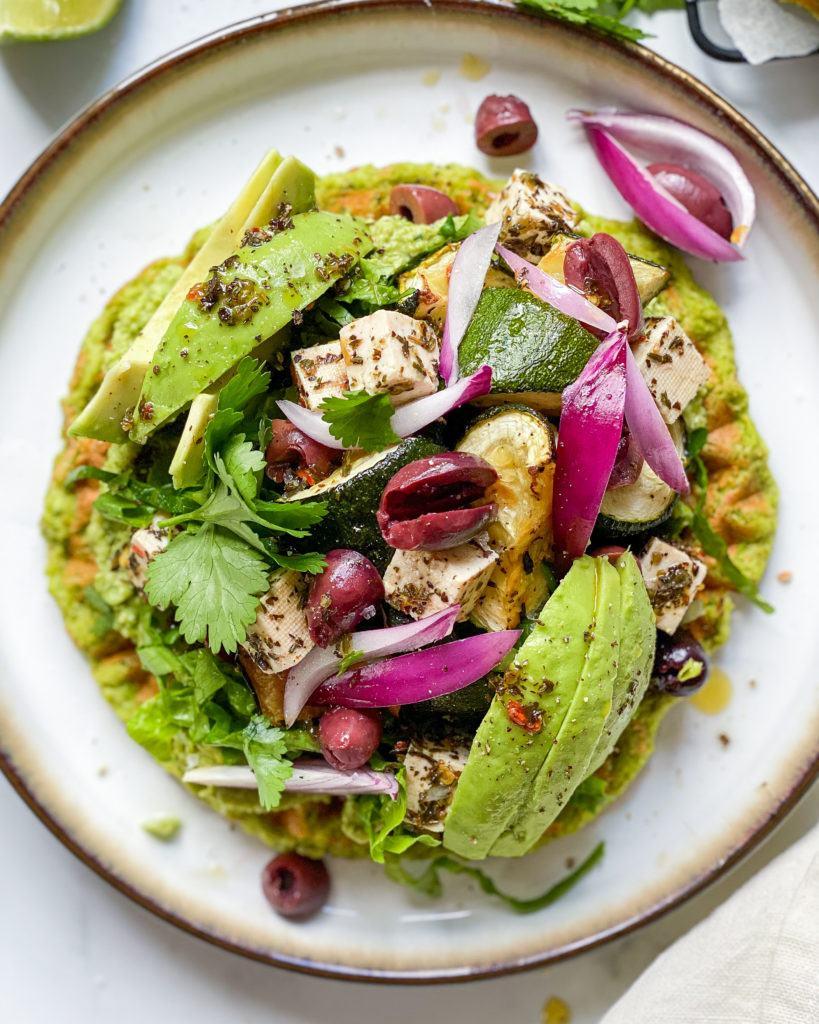 veganske grønne madvafler