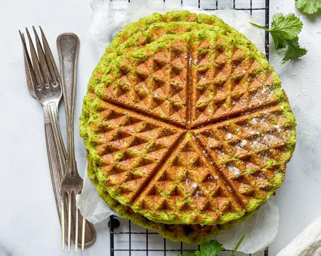 grønne madvafler