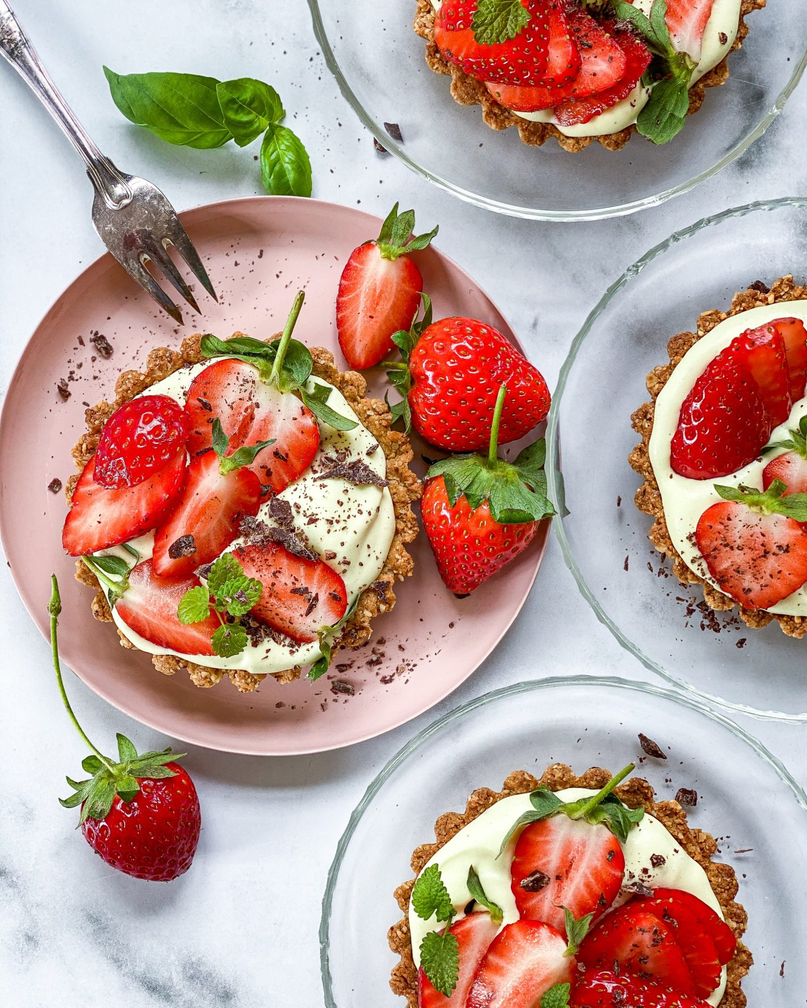 vegansk jordbærtærte